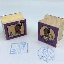 Disney The Princess and the Frog Tiana 2 Stamp Wooden Rubber Lot Preowned