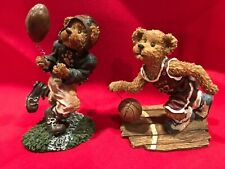 2 Sporty Boyd's Bears and Friends Figurines / Football Player /Basketball Player