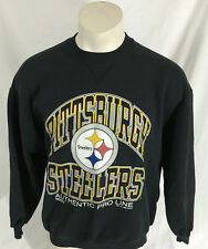 Pittsburgh Steelers Black Sweatshirt Russel Athletic Authentic Pro Line Men's XL