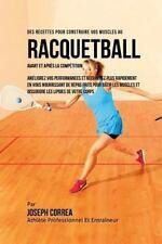 Des Recettes Pour Construire Vos Muscles Au Racquetball Avant et Apres la...