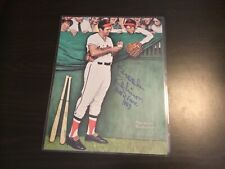 Brooks Robinson authentic autograph on 8.5 x 11 Norman Rockwell print