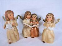 Goebel 3 Angel Figurines Cup Candle Holder 42 090 Singing 41 084 Praying 41 087