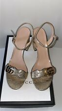 Used Once Gucci Gold Sandals