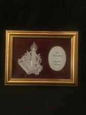 Abbey Lace Of Bath England 1988 1998 10 Years Excellence Picture Frame Christmas