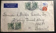 1934 The Hague Netherland Airmail Cover To Batavia Dutch East Indies