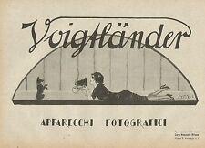 Y0485 Apparecchi Fotografici VOIGTLANDER - Pubblicità d'epoca - Advertising