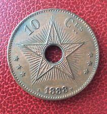 Etat Indépendant du Congo - Congo Belge -  Très Jolie  10 Centimes 1888 (2)