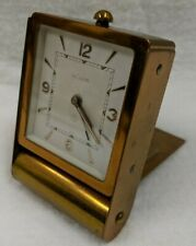 Jaeger Lecoultre Vintage 8-Day Folding Brass Desk Alarm Clock - It's RARE!!!