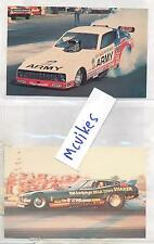 Vintage 1970's Drag Racing Funny Car Photo Pack Lot (10) Army, Marines, Postcard