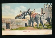 India Animals ELEPHANT Fight c1910/20s? PPC