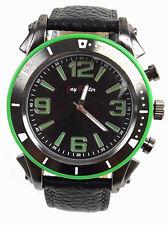Herrenuhr Jay Baxter echt Lederarmband Watch Uhr Gun Grün Schwarz Herren