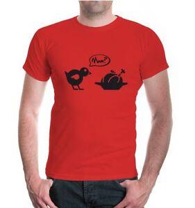 Herren Unisex Kurzarm T-Shirt Chick-Roast-Mum Kücken Broiler Braten Mutter