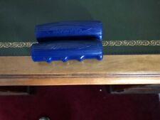 Vintage Schwinn Blue Scripted Teardrop Grips
