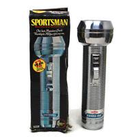 🔴Vintage Rayovac Sportsman Flashlight Stainless Steel W/ Original Box 7 Inches
