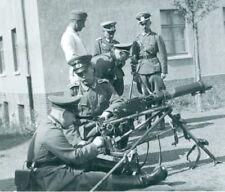 German Soldiers with MG08 machine gun on Lafette tripod. WW2 Rare Original Photo