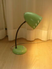 Nachttischlampe Schreibtischlampe Leselampe Lampe Metall Schwanenhals 50er Jahre