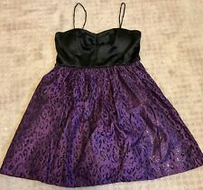 City Triangles,women's size 11,black and purple short dress,animal print,sparkle