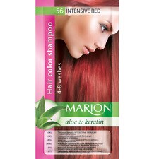 Marion Hair color shampoo sachet (lasting 4-8 washes) Aloe & Keratin 56