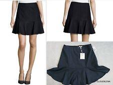 NWT($224) JOIE Size S IVETA Pinstriped Flared-Hem Skirt in Dark Navy