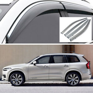 4Pcs Car Window Visor Vent Shade Deflector Sun/Rain for Volvo XC90 2015-2020