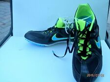 Nike Zoom Rival MD 6 Running Shoes Mens Size 10 New without Box Black/Neon