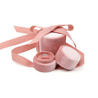 Pink Round Bowknot Jewelry Box For Wedding Ring Earring  Necklace  Jewelry 1X