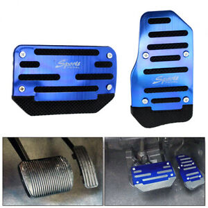 2x Blue Universal Non-Slip Pedal Brake Foot Pad Cover Accelerator Automatic Car