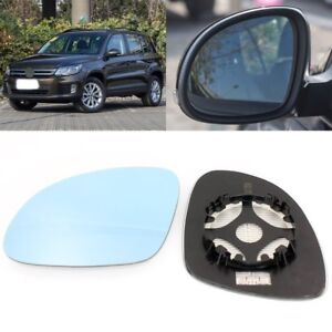 Rearview Mirror Blue Glass Side Mirror Wide Angle Heated For VW Tiguan 2008-2018