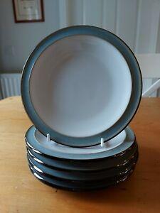 5 x DENBY JET BLACK GREY SIDE PLATES - 18.5 cm (7 1/4 inches)