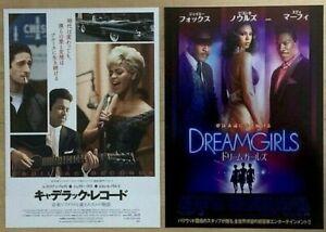 CADILLAC RECORDS /DREAMGIRLS -JAPAN Chirashi/Mini-Posters- RARE! BONUS! BEYONCE!