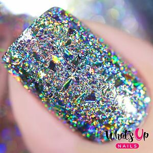Holographic Flakies for Nail Art Design