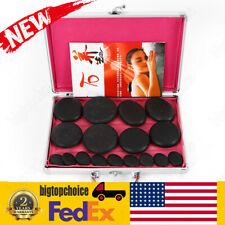 16Pcs Hot Massage Stone Set Heater Natural Basalt Warmer Rock Kit +case bigtop!