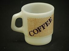 Old Vintage Coffee Cup Mug by Anchor Hocking Milk White Oven Proof Usa Mcm