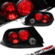 For 2002 2003 Mitsubishi Lancer ES/LZ/OZ Rally/Sedan 4DR BLK Tail Lights Lamps