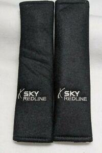 Saturn Sky Redline Seat Belt Pads all models black super soft embroidered Silver
