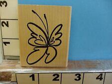 denami design sketched butterfly rubber stamp 1B