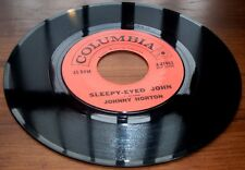 Johnny Horton   Sleepy Eyed John 1961 Columbia 41963 Early Country  45 RPM  VG++