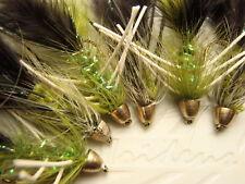 Irideus Custom Soft Hackle Trophy Taker Wooly Bugger Fly Fishing Flies Trout #8