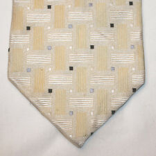 NEW Joseph & Feiss Silk Neck Tie Light Yellow with Yellow and Blue Pattern 1289