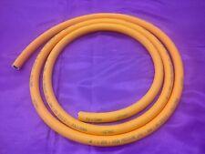 "3 Metre x 8mm LPG Propane Butane Gas Orange Hose Pipe 3m x 5/16"" Camping BBQ"