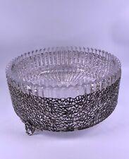 Große 925 Sterling Silber/ Kristall Schale Ø22cm Silberschale 2kg