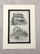 1880 Print Victorian Steam Engine Ransomes Sims Mechanical Engineering