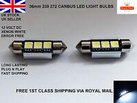2 X 36mm C5W 239 272 Canbus No Error 3 LED Number Plate Bulb Audi BMW Festoon