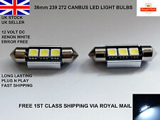 2 X 36mm C5W 239 272 Canbus No Error 3 LED Number Plate Bulb Audi BMW Festoon