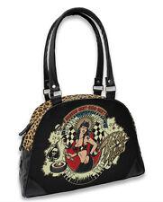 Liquor Brand Hot Rod Hellcat Heaven Sent Bowler Bag Gothic Rockabilly Handbag