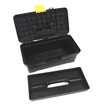 "Plastic Toolbox with Handle Art Craft Storage Case Carry Tool Box 12.5"" Long"