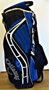 Callaway Stand Carry Bag 14/Way Divider Blue/Black 9 Pockets Inc Valuables & GPS