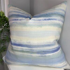 "Cushion Cover 18"" Coastal &Nautical Decor White Blue Prestigious Textiles Fabric"