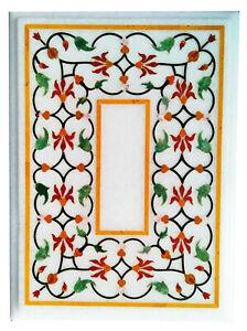 "36"" x 22"" Marble Table Top semi precious stones handmade Inlay art Home Decor"