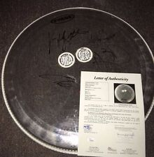 """SEVENDUST Autographed Signed Evans 23"""" Drumhead FULL JSA LOA LaJohn Rose Hornsby"""